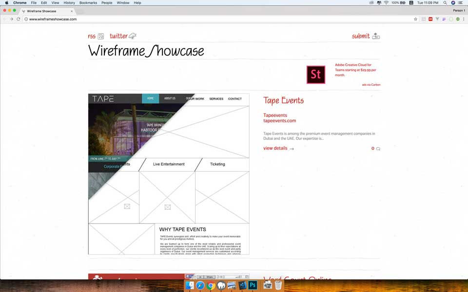 Wireframe Showcase